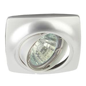 ЭРА Светильник KL64A PS литой пов. MR16,12V/220V, 50W перламутровое серебро Б0021532